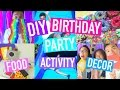 DIY BIRTHDAY PARTY! Activities, Decor, & Food! | PurpleKevin