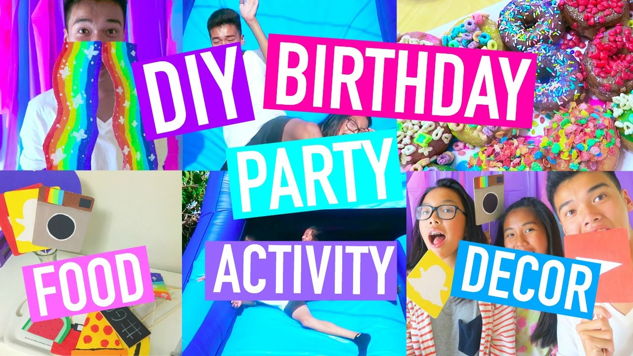 Diy Birthday Party Activities Decor Food Purplekevin Youtube