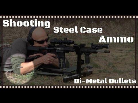 Shooting Steel Cased Ammo In An AR-15, AK-47, & a Handgun Overview (HD)