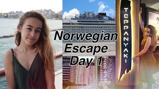 Norwegian Escape Cruise Vlog Day 1!
