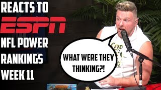 Pat McAfee Reacts To New NFL Rankings
