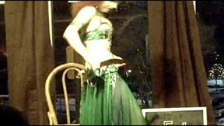 Samira Shuruk Belly Dancing Performance at New Deal Cafe, Greenbelt, Maryland, January 8, 2010