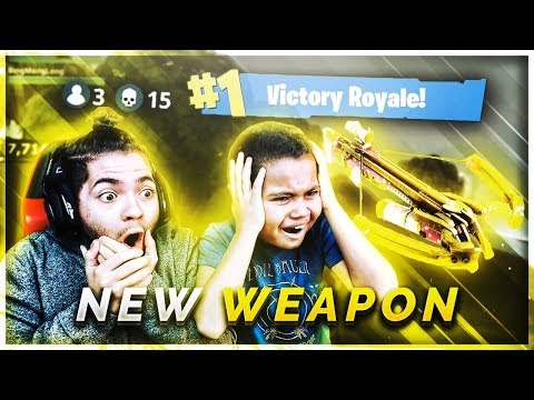 *NEW* CROSSBOW WEAPON IS UNSTOPPABLE! FORTNITE BATTLE ROYALE TROLLING LAST KILL WITH CROSSBOW! WIN!