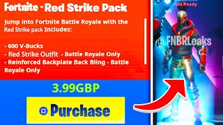 "The New ""RED STRIKE STARTER PACK"" LEAKED In Fortnite! NEW Season X Starter Pack Confirmed!"