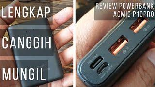Powerbank Murah, Mungil, Canggih, 10.000 mAh: ACMIC P10PRO, dukung QC, Fast Charging, dan USB PD thumbnail