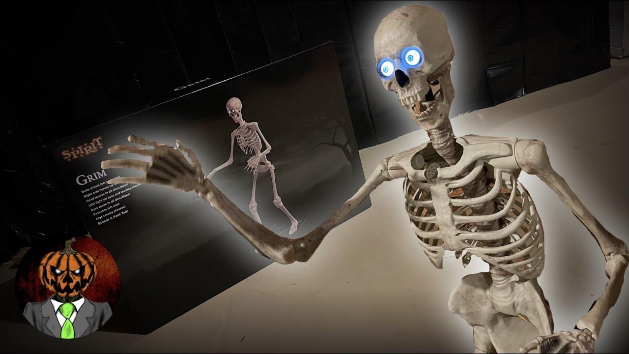 Grim UNBOXING/SETUP & OVERVIEW - Spirit Halloween 2021 Animatronic