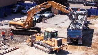 Track Loader & Excavator Fill Dump Truck with Scrap