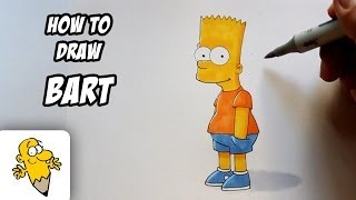 How to draw Bart [The Simpsons] Drawing Tutorial