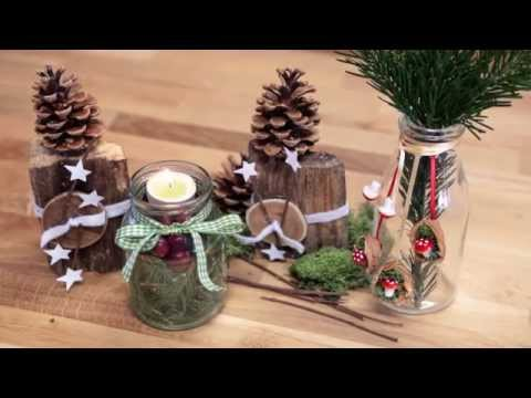 weihnachtsdeko basteln aus naturmaterialien active beauty diy youtube. Black Bedroom Furniture Sets. Home Design Ideas