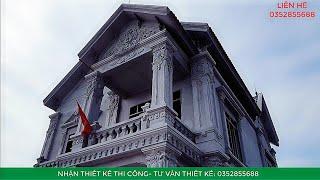 image NHÀ ĐẸP mái thái 2 tầng kiến trúc tân cổ mẫu 516