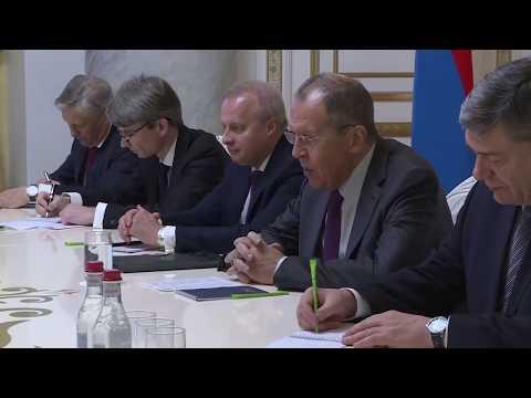 С.Лавров и Н.Пашинян, Ереван, 11 ноября 2019 года
