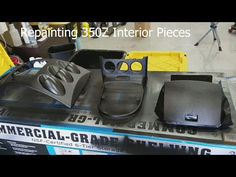 350Z Painting Center Dash & Shift Bezel Painting Interior 350Z Episode 5