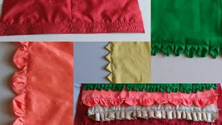Five different types of petticoat lace making| how to make different designer laces for petticoat