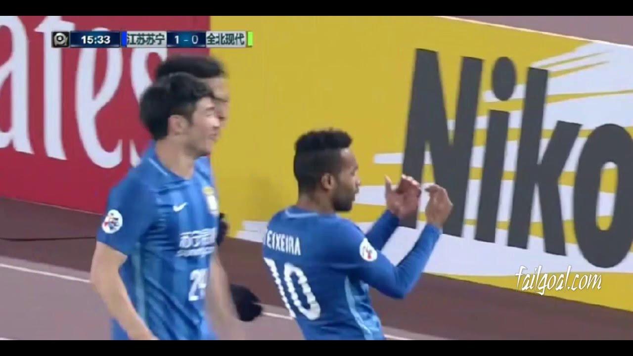 Alex Teixeira first goal Jiangsu Suning