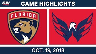 NHL Highlights | Panthers vs. Capitals - Oct. 19, 2018