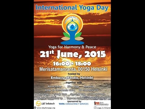 Int'l day of Yoga Celebrations at Helsinki