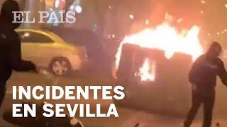 INCIDENTES en SEVILLA contra el TOQUE DE QUEDA   La crisis del #CORONAVIRUS