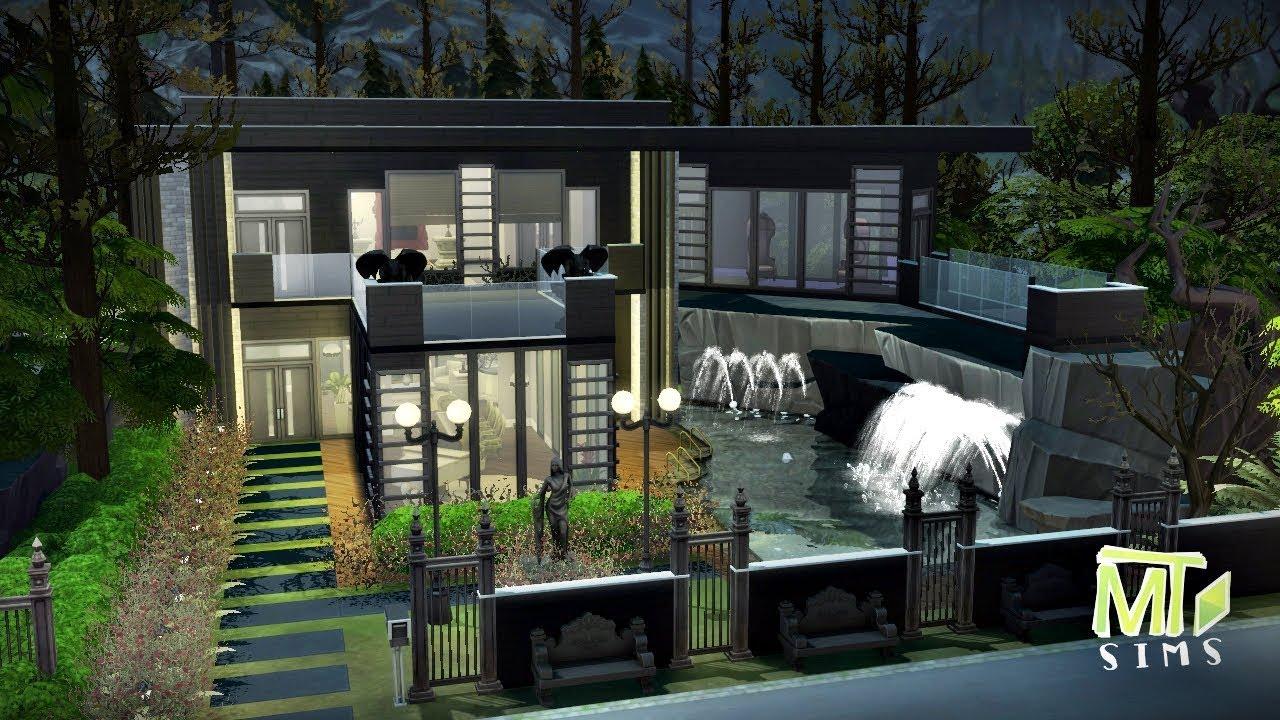 Casa moderna de vampiro modern vampire house the sims 4 for Casas modernas sims 4 paso a paso