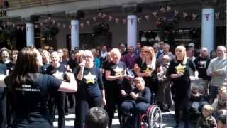 "Chester Rock Choir singing ""Valarie"" Chester June 2012"