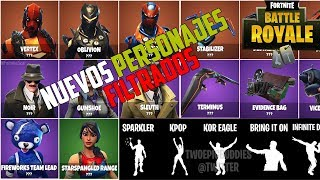 Fortnite ? *FILTRATE* New CHARACTERS, BAILES, WEAPONS *SECRETAS* How to get them?