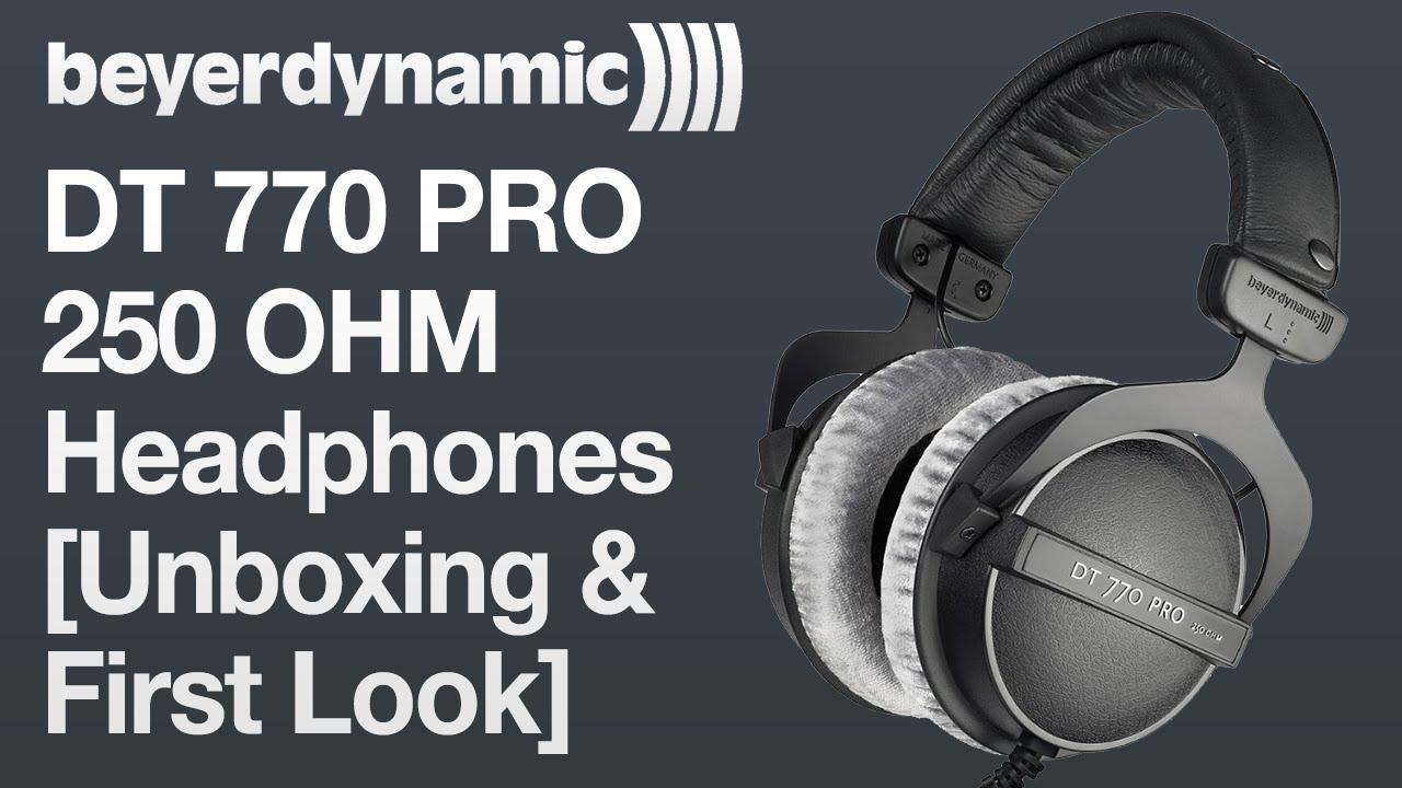 beyerdynamic dt 770 pro 250 ohm headphones unboxing first look youtube. Black Bedroom Furniture Sets. Home Design Ideas