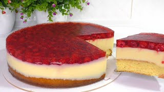 ПОТРЯСАЮЩИЙ ТОРТ Готовлю каждый день Очень легкий и простой рецепт торта Малиновый торт