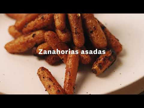 Thumbnail to launch Roasted Carrots Master Spanish video