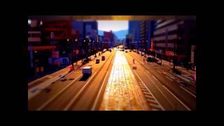 Miniature time lapse of Hiroshima, Japan. Music : Fuji Fabric - Ped...