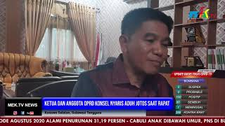 Ketua dan Anggota DPRD Konsel Nyaris Aduh Jotos Saat Rapat