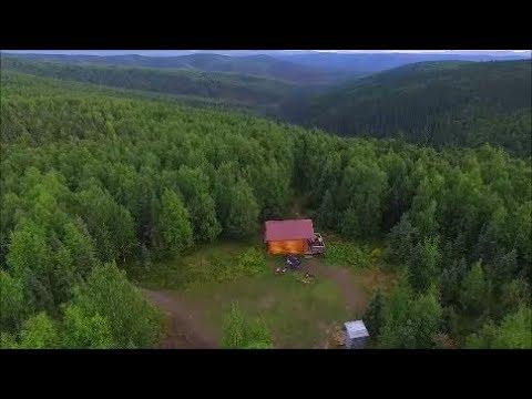 spending the night in a remote Alaskan cabin