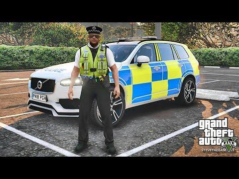GTA 5 MODS LSPDFR 848 - BRITISH PATROL!!! (GTA 5 REAL LIFE PC MOD)VOLVO