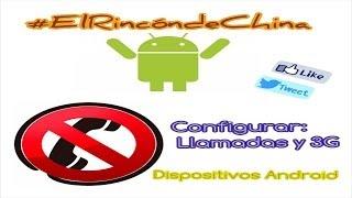 Red móvil no disponible, configurar Llamadas y 3G en Android