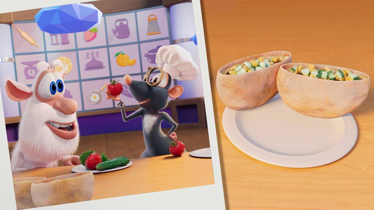Буба 🥙 Кулинарное шоу: Донер-лодки ⛵ Весёлые мультики для детей - БУБА МультТВ