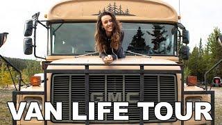 van life tour | MOST AMAZING SKOOLIE BUS CONVERSION WE'VE SEEN!