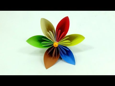 Origami Flower: How to Make a Kusudama Paper Flower   DIY Easy Paper Flower Origami Tutorial 🌼