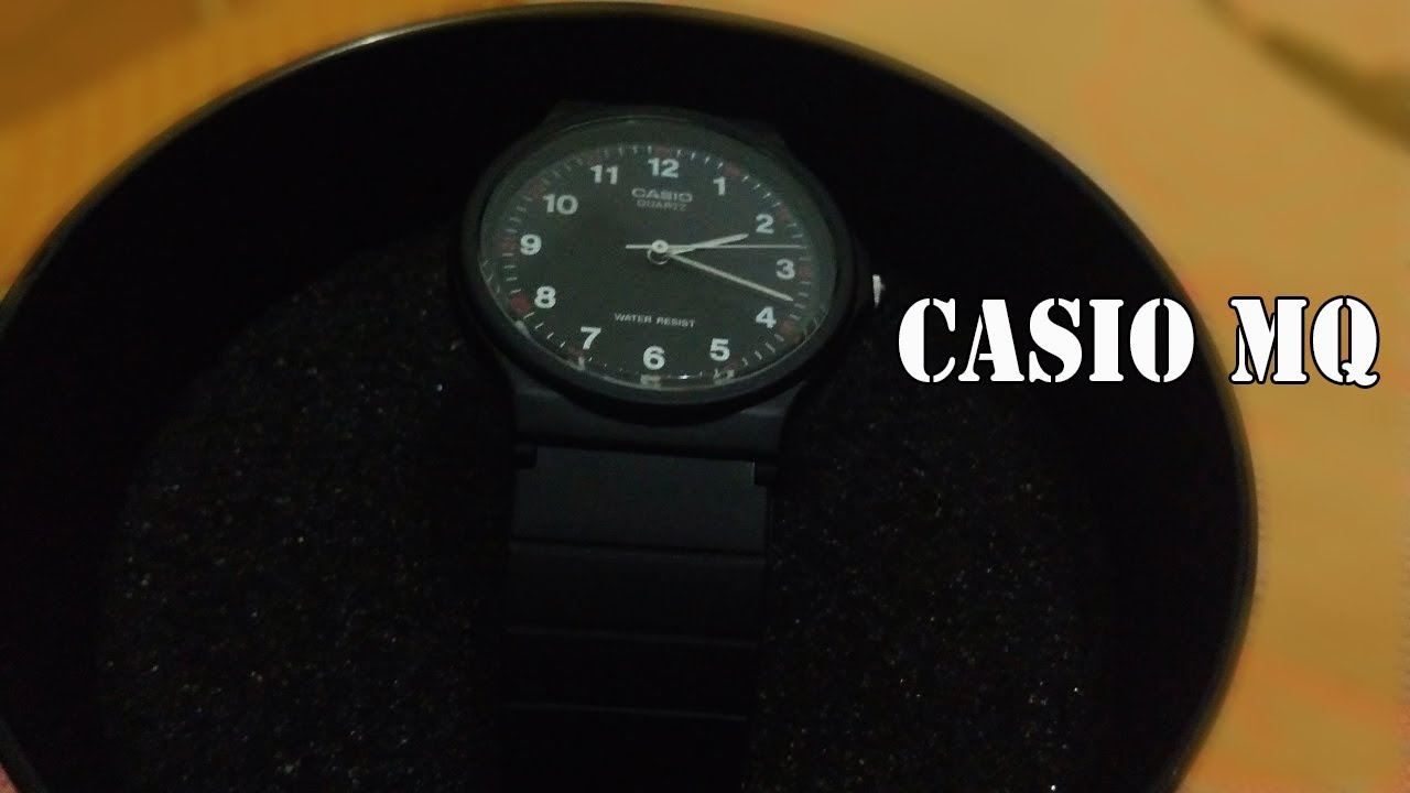 Jam Tangan Casio MQ-24-1B Unisex original - YouTube 0059d15f8e