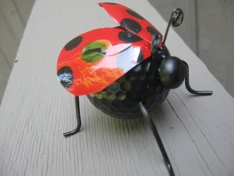 Recycled Ladybug Craft Water Bottles Golf Ball