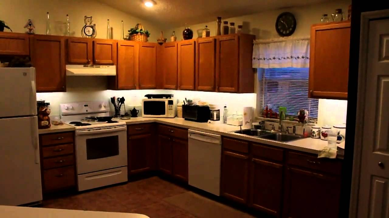 lighting kitchen islands for small kitchens led under cabinet diy youtube