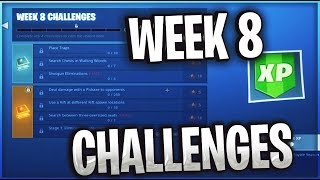 WEEK 8 CHALLENGES LEAKED SEASON 5 / FORTNITE BATTLE ROYALE
