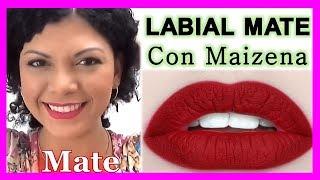 Como hacer tu labial Mate con MAIZENA | LIPS MATTE | how to make a matt lip | YOLIANA GAMBOA