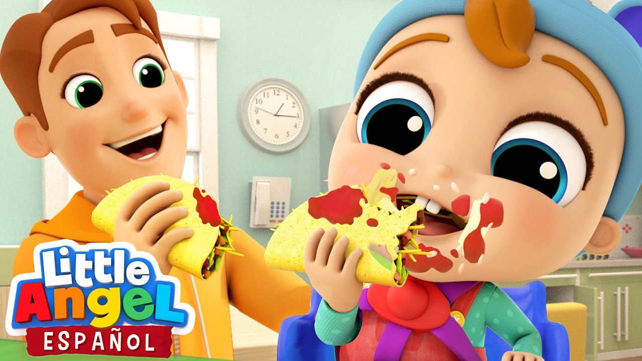 ¡Aprendamos a Comer Muy Bien! 🍽️ 🌮  | Canciones Infantiles de Bebé Juan | Little Angel Español