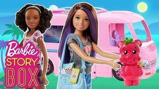 Skipper takes the Barbie DreamCamper Back in Time | Barbie Story Box | Barbie