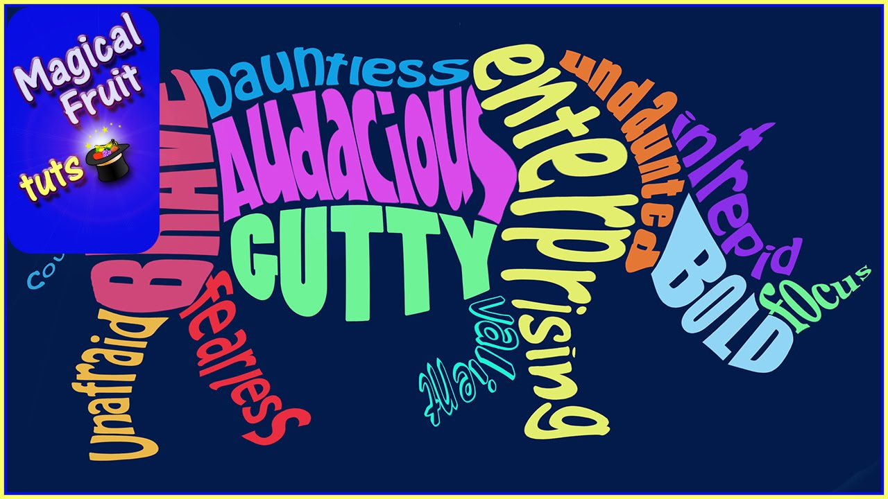 Create An Animal Word Cloud Shape Design In Photoshop Cc
