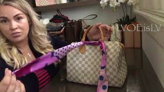 "How to tie bow on a Louis Vuitton Speed Bag - ""The Dahlia"" look"