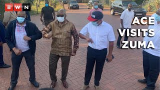 ANC secretary-general Ace Magashule visited former President Jacob Zuma at his Nkandla homestead on 15 April 2021 to wish him happy birthday for 12 April.