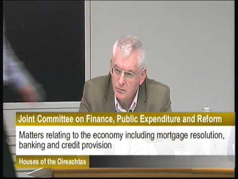 Joe Higgins questioning the governor of the Central Bank of Ireland