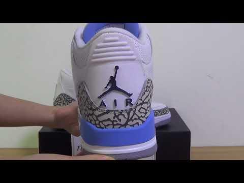 """5fb64ddc7c18 Authentic Air Jordan 3 """"UNC""""PE - YouTube"""