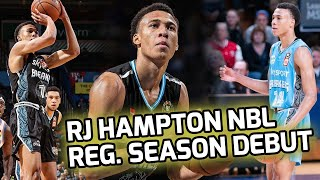 RJ Hampton Takes on Former NBA CHAMPION! Shines in NBL Regular Season Debut! 🌟