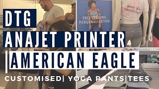 DTG AnaJet Printers - Amercian Eagle Aerie Soltice NYC Event