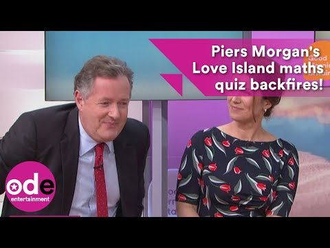 Piers Morgan 'mugs himself off' when his Love Island geometry quiz backfires!